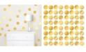 Brewster Home Fashions Gold Confetti Dots Set