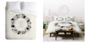 Deny Designs Iveta Abolina Silver Dove K Queen Duvet Set