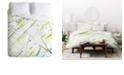 Deny Designs Iveta Abolina Green Thursday Twin Duvet Set