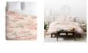 Deny Designs Iveta Abolina Apricot Camo Queen Duvet Set