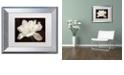 "Trademark Global Cora Niele 'White Tulip I' Matted Framed Art, 11"" x 14"""