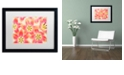 """Trademark Global Cora Niele 'Yellow and Coral Red Tulips' Matted Framed Art, 16"""" x 20"""""""