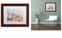 "Trademark Global Cora Niele 'Facade I' Matted Framed Art, 11"" x 14"""