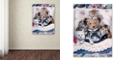 "Trademark Global Jenny Newland 'Kittens And Teddy Bear' Canvas Art, 24"" x 32"""