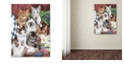 "Trademark Global Jenny Newland 'Cuddly Kittens' Canvas Art, 14"" x 19"""