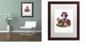 "Trademark Global Jenny Newland 'Jack Of Hearts' Matted Framed Art, 16"" x 20"""
