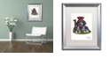 "Trademark Global Jenny Newland 'Jack Of Clubs' Matted Framed Art, 16"" x 20"""