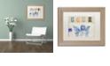 "Trademark Global Nick Bantock 'Blue Angel' Matted Framed Art, 11"" x 14"""