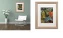 "Trademark Global Nick Bantock 'Elephants' Matted Framed Art, 16"" x 20"""