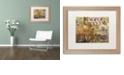 "Trademark Global Nick Bantock 'Luggage Label' Matted Framed Art, 16"" x 20"""