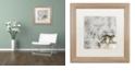 "Trademark Global Nick Bantock 'Lynx' Matted Framed Art, 16"" x 16"""