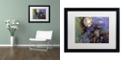 "Trademark Global Nick Bantock 'Night Angel' Matted Framed Art, 16"" x 20"""