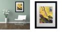 "Trademark Global Nick Bantock '124 Golden Bough' Matted Framed Art, 16"" x 20"""