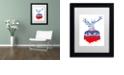 "Trademark Global Robert Farkas 'Ugly Winter Pullover' Matted Framed Art, 11"" x 14"""