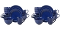 Certified International Orbit Solid Color - Cobalt Blue 16-Pc. Dinnerware Set