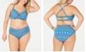 Bleu by Rod Beattie Plus Size Bikini Top & High-Waist Bottoms