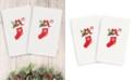 Linum Home CLOSEOUT!  Christmas Stocking 100% Turkish Cotton 2-Pc. Hand Towel Set
