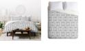 Deny Designs Holli Zollinger Mudcloth White Twin Duvet Set