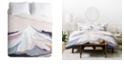 Deny Designs Iveta Abolina Off the Grid Purple Queen Duvet Set