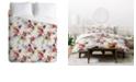 Deny Designs Holli Zollinger Poppy Wild Twin Duvet Set
