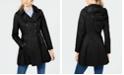 Via Spiga Hooded Skirted Water Resistant Trench Coat