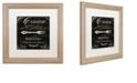 """Trademark Global Color Bakery 'La Cuisine I' Matted Framed Art, 16"""" x 16"""""""