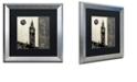 "Trademark Global Color Bakery 'Moon Over London' Matted Framed Art, 16"" x 16"""