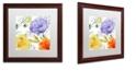 "Trademark Global Color Bakery 'Rhapsody I' Matted Framed Art, 16"" x 16"""