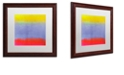 """Trademark Global Color Bakery 'Gradients Iii' Matted Framed Art, 16"""" x 16"""""""
