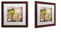 "Trademark Global Color Bakery 'Wine Country Vi' Matted Framed Art, 16"" x 16"""