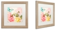 "Trademark Global Color Bakery 'Florabella I' Matted Framed Art, 16"" x 16"""