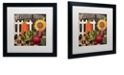 """Trademark Global Color Bakery 'Vermont Farms Viii' Matted Framed Art, 16"""" x 16"""""""