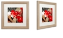 """Trademark Global Color Bakery 'China Red I' Matted Framed Art, 16"""" x 16"""""""