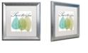 "Trademark Global Color Bakery 'Seasons I' Matted Framed Art, 16"" x 16"""