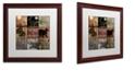 """Trademark Global Color Bakery 'Cabela Clock' Matted Framed Art, 16"""" x 16"""""""