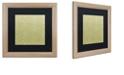 """Trademark Global Color Bakery 'Annabelle Lee V' Matted Framed Art, 16"""" x 16"""""""