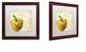 """Trademark Global Color Bakery 'Cafe D?Or Vii' Matted Framed Art, 16"""" x 16"""""""