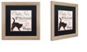 "Trademark Global Color Bakery 'Les Chats Ii' Matted Framed Art, 16"" x 16"""