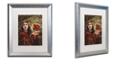 """Trademark Global Color Bakery 'Art Nouveau Zodiac Aries' Matted Framed Art, 16"""" x 20"""""""