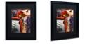 "Trademark Global Color Bakery 'Art Nouveau Zodiac Scorpio' Matted Framed Art, 16"" x 20"""
