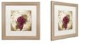"Trademark Global Color Bakery 'Tuscany Table Merlot' Matted Framed Art, 16"" x 16"""