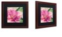 "Trademark Global Color Bakery 'Pink Magnolia Ii' Matted Framed Art, 16"" x 16"""