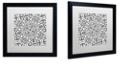 "Trademark Global Color Bakery 'Suriah Ii' Matted Framed Art, 16"" x 16"""