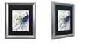 "Trademark Global Color Bakery 'Peacock Nouveau I' Matted Framed Art, 16"" x 20"""