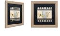 "Trademark Global Color Bakery 'Bistro Nouveau Ii' Matted Framed Art, 16"" x 16"""