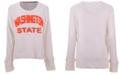 Pressbox Women's Washington State Cougars Cuddle Knit Sweatshirt
