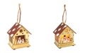 Jeco Wooden Christmas Scene LED Hanging Ornament