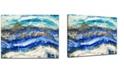"Ready2HangArt 'Ocean Jewels' Abstract Canvas Wall Art, 20x30"""