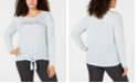 Calvin Klein Plus Size Knot-Front Long-Sleeve T-Shirt