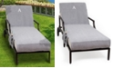 Linum Home Personalized Standard Size 100% Turkish Cotton Chaise Lounge Cover with Side Pockets